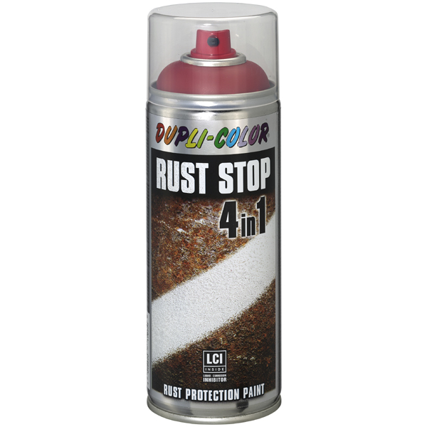 Duplicolor Rust Stop 400 ml. zijdemat RAL 3000 vuurrood