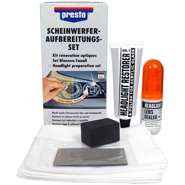 presto scheinwerfer reparatur aufbereitungs set headlight